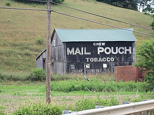 Richland Township, Holmes County, Ohio - Mail Pouch barn on U.S. Route 62