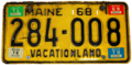 Maine 1972 license plate.png