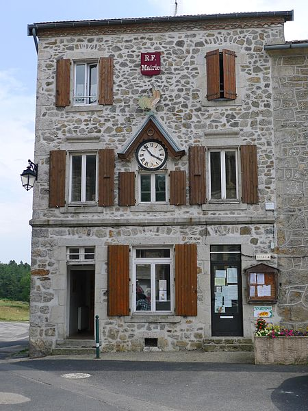 Town hall of Saint-André-en-Vivarais - Ardèche - France