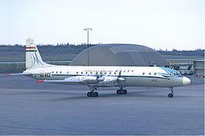 Ilyushin Il-18 - Malev Il-18 in Sweden, 1972