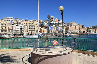 Douzelage - Monument commemorating the 20th anniversary of the Douzelage on 3 September 2011 in Marsaskala, Malta.