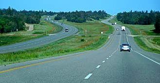 Trans-Canada Highway - Highway 1 eastbound in Manitoba near Carberry