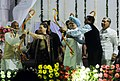 Manmohan Singh and the Chairperson, National Advisory Council, Smt. Sonia Gandhi, during the Dussehra celebrations, at Ramleela Maidan on the auspicious occasion of Vijay Dashmi, in New Delhi on October 13, 2013.jpg