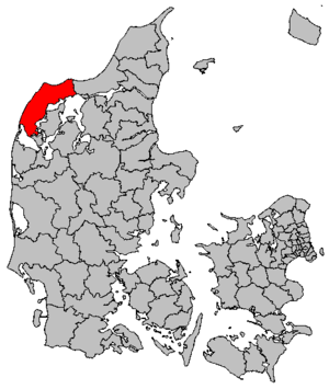 Thisted Municipality - Location of Thisted municipality