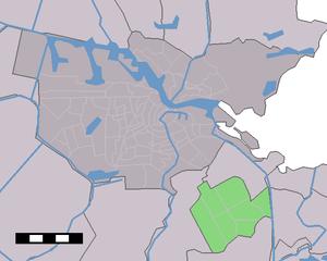 Amsterdam-Zuidoost - Image: Map NL Amsterdam Stadsdeel Zuidoost