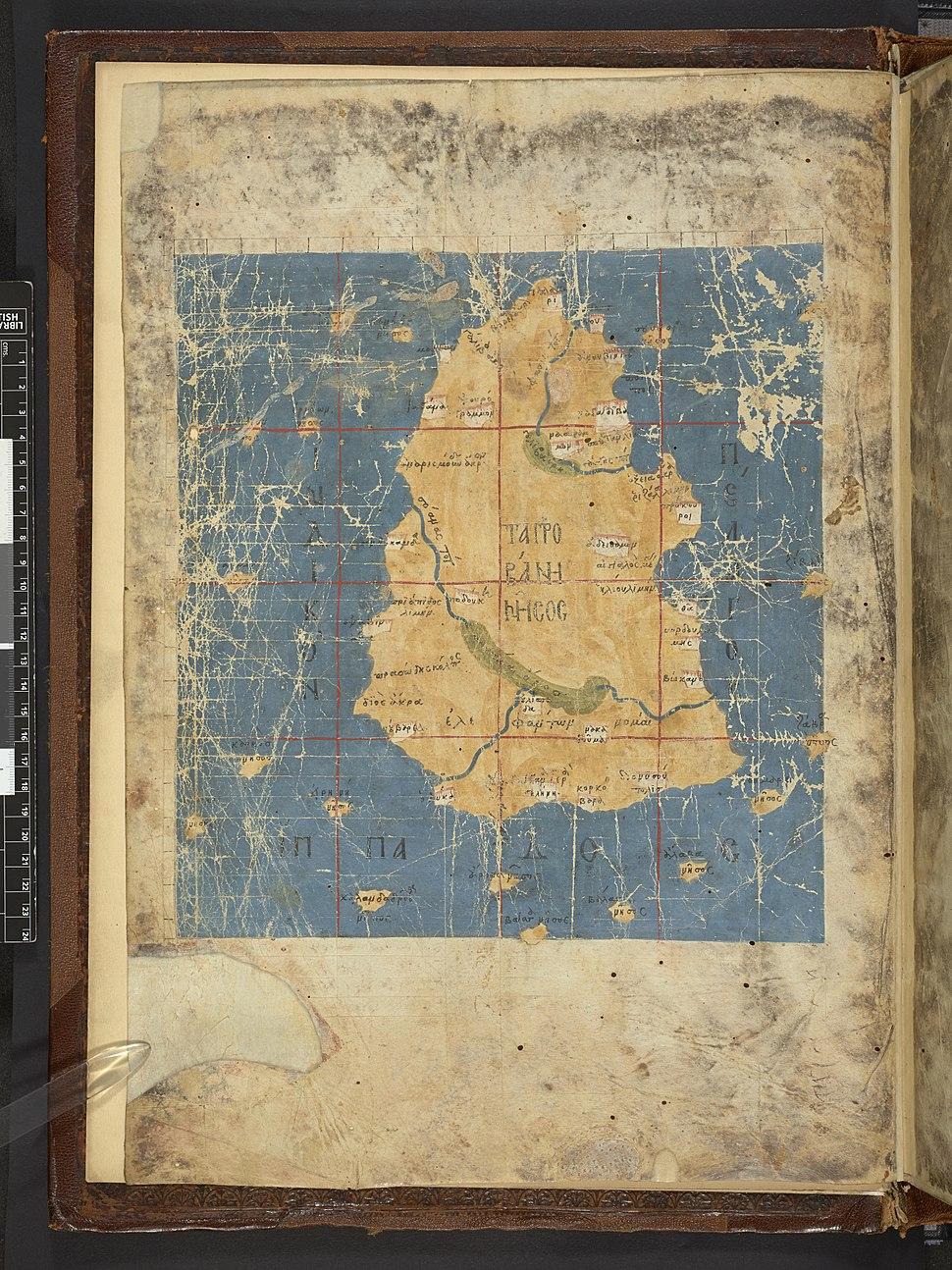 Map after Ptolemy's Geographia (Burney MS 111, f.1v).jpeg