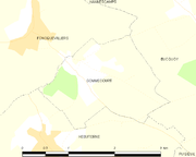 Map commune FR insee code 62375