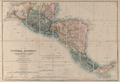 Map of Central America Including the States of Guatemala, Salvador, Honduras, Nicaragua and Costa Rica, the Territories of Belise and Mosquito, with Parts of Mexico, Yucatan and New Granada WDL654.png