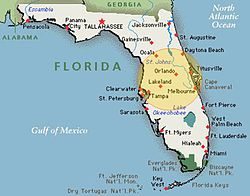 Central Florida, part of the Florida megaregion