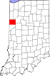 State map highlighting Benton County