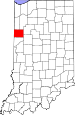 Map of Indiana highlighting Benton County.svg