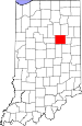 Map of Indiana highlighting Grant County.svg