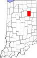 Map of Indiana highlighting Huntington County.svg