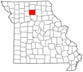 Map of Missouri highlighting Linn County.png