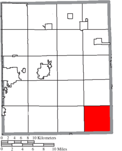 Location of Deerfield Township in Portage County