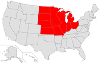 Map of USA highlighting Midwest.png