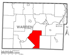 Map of Watson Township, Warren County, Pennsylvania Highlighted.png