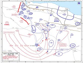 50th (Northumbrian) Infantry Division - The Battle of Gazala in May 1942, in the vicinity of Tobruk.