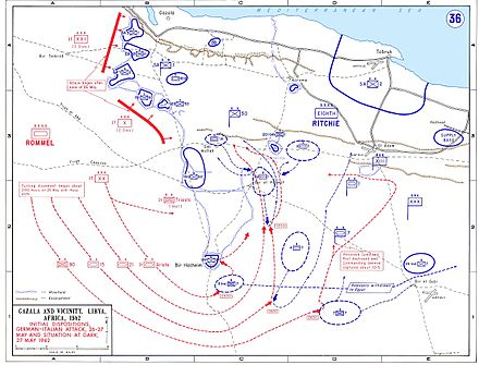 Axis advance, opening of Operation Venice Map of siege of Tobruk 1942.jpg