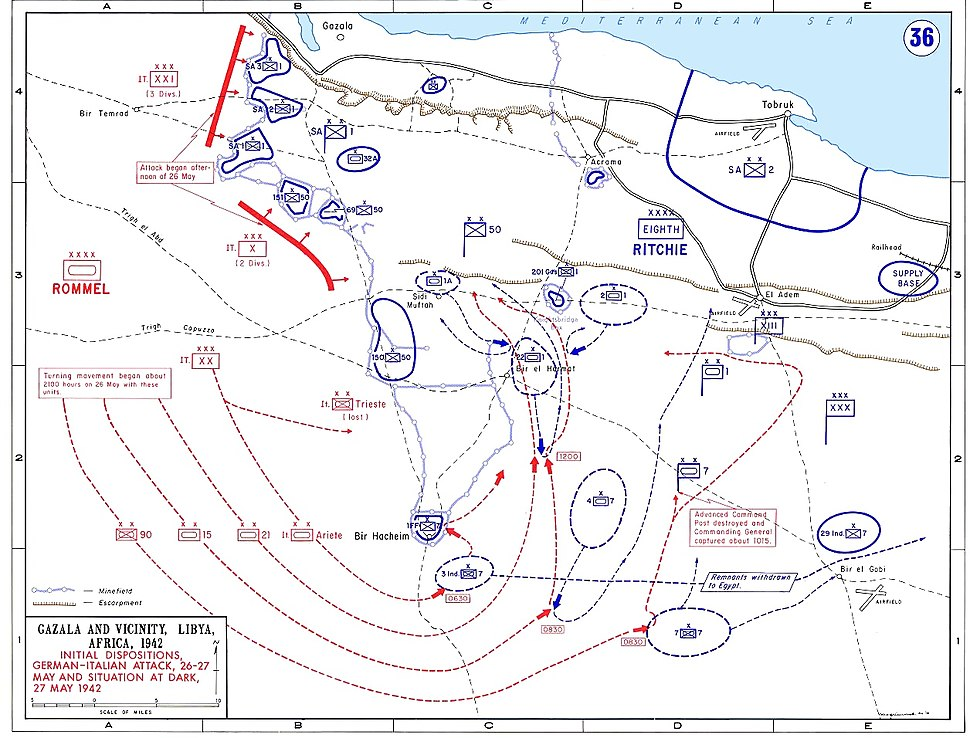 Map of siege of Tobruk 1942