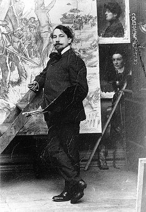 Marc-Aurèle de Foy Suzor-Coté - Marc-Aurele de Foy Suzor-Coté in his studio (McCord Museum)