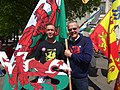 March for Welsh Independence arranged by AUOB Cymru First national march; Wales, Europe 07.jpg