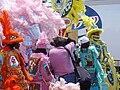 Mardi gras indians jazzfest pink shirt photographer.jpg