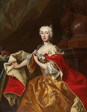 Archduchess Maria Anna of Austria (governor) - Portrait by Johann Gottfried Auerbach