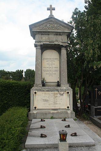 Count Joseph Alexander Hübner - Hübner's grave in Maria Enzersdorf