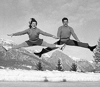 Marianna Nagy (figure skater) - Marianna and László Nagy at the 1956 Olympics