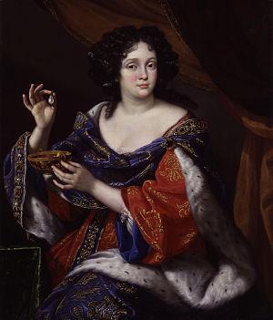 Marie Anne Mancini - Portrait of Marie Anne Mancini by Benedetto Gennari, circa 1672–1673