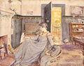 Marie og vibeke krøyer foran kaminen i hjemmet.jpg