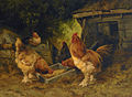 Marinus Adrianus Koekkoek - In the chicken yard.jpg