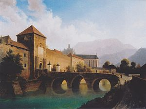 Austrian walled towns - Markus Pernhart - Friesach, The Olsator gate and walls overlooking the moat