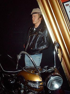 The Wild One - Madame Tussauds waxwork exhibit of Marlon Brando in The Wild One albeit with a later 1957/8 model Triumph Thunderbird