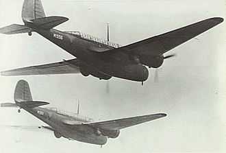 Royal Netherlands East Indies Army Air Force - ML-KNIL Martin 166 bombers over Malaya in January 1942.