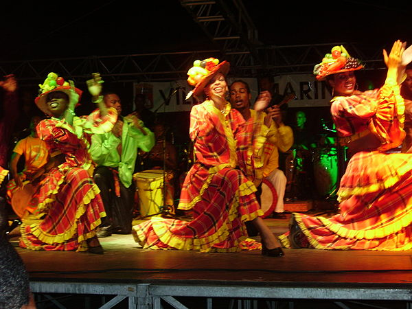 Martinique dancers in traditional dress Martinique Costumes.JPG