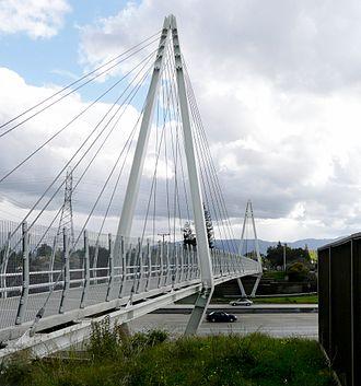 Don Burnett Bicycle-Pedestrian Bridge - Image: Mary Ave Bridge