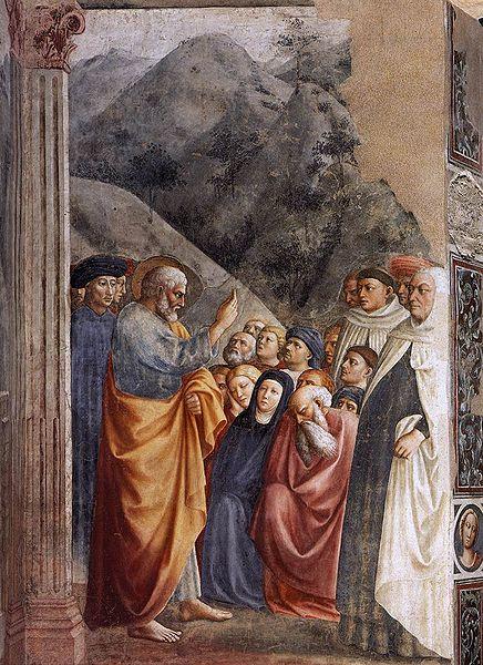 File:Masolino, predica di san pietro, cappella brancacci.jpg