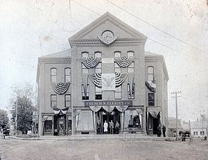 Guilford, Maine - Masonic hall, Guilford, 1916, later demolished