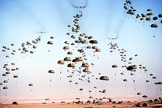 Operation Bright Star - A mass drop paratroopers during Bright Star 1981