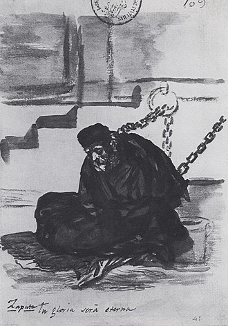 Spanish Inquisition - Diego Mateo López Zapata in his cell before his trial by the Inquisition Court of Cuenca