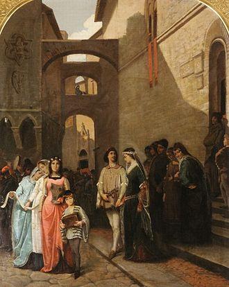 Francesco Saverio Altamura - Medieval Marriage: Marriage of Buondelmonte