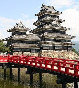 English: Tower of Matsumoto Castle, Japan Deut...