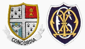 Mayfield College - Image: Mayfield badge pair