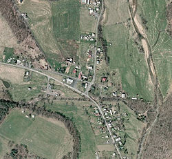 Aerial view of McDowell, Virginia