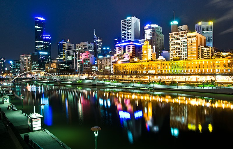 File:Melbourne, Australia by night.jpg