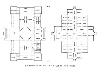 Memorial Hall (Philadelphia) - Image: Memorial hall and annex ground floor plan