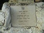 Memorial to IAF pilot Dan Belkin in Ben Shemen forest.jpg