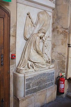 Sir Richard Bickerton, 2nd Baronet - Bickerton's memorial in Bath Abbey